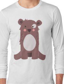 Cute brown bear Long Sleeve T-Shirt