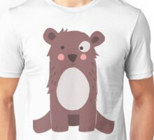 Cute brown bear Unisex T-Shirt