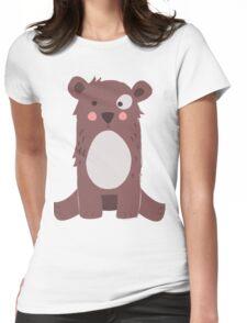 Cute brown bear Womens Fitted T-Shirt
