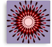 Sonne Blume Retro Muster Canvas Print