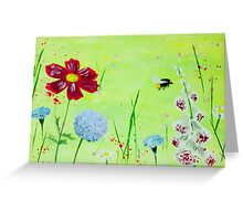 Buzzing Meadow Greeting Card