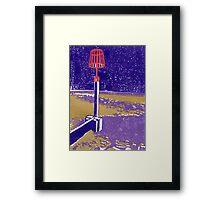 Seaview Fire Beacon in Purple Framed Print