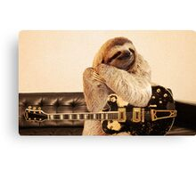 Rock Star Sloth Canvas Print