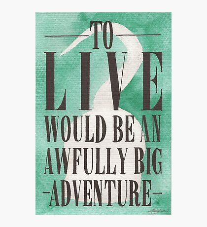 Awfully Big Adventure Photographic Print