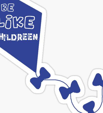 Kite blue Sticker