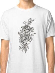 Blackwork Peony Classic T-Shirt