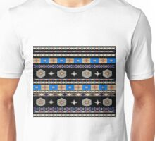 Off-Grid Pattern (earth tones & blue) Unisex T-Shirt