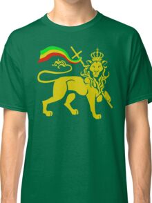 Gold Rasta Lion of Judah Classic T-Shirt