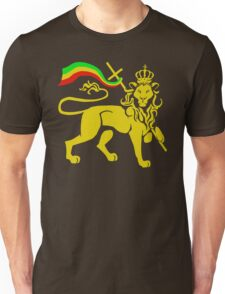 Gold Rasta Lion of Judah Unisex T-Shirt