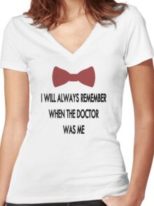 Doctor Who: I Will Always Remember Women's Fitted V-Neck T-Shirt