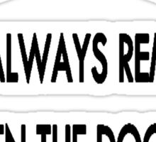 Doctor Who: I Will Always Remember Sticker