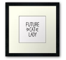 Future Cat Lady Framed Print
