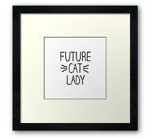 Future Cat Lady Framed Print