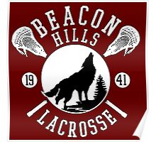 Beacon Hills Wolf Lacrosse Poster