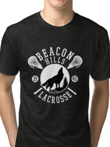 Beacon Hills Wolf Lacrosse Tri-blend T-Shirt