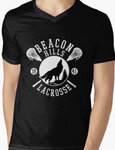 Beacon Hills Wolf Lacrosse Mens V-Neck T-Shirt