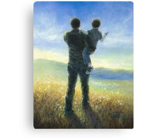 DAD AND ME FATHER AND SON Canvas Print