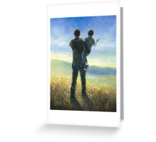 DAD AND ME FATHER AND SON Greeting Card