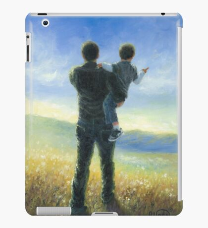 DAD AND ME FATHER AND SON iPad Case/Skin