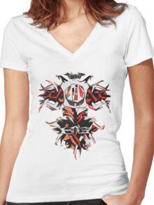 Tribal Tech 2 Women's Fitted V-Neck T-Shirt