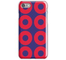 Red and Blue Polka dot iPhone Case/Skin