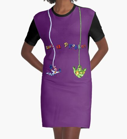 Earthworm Jim - Snot a Problem Graphic T-Shirt Dress