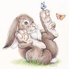 Butterfly Rabbit by whiterabbitart