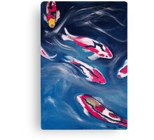 Koi In Motion Canvas Print