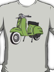 Vespa Illustration - Lime T-Shirt