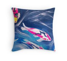 Koi In Motion Throw Pillow