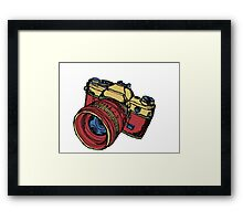 Classic 35mm SLR Camera in Fall Colors Framed Print