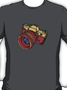 Classic 35mm SLR Camera in Fall Colors T-Shirt