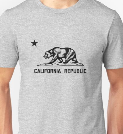 The Bear Flag - Black and White  Unisex T-Shirt