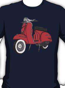 Vespa Illustration - Red T-Shirt