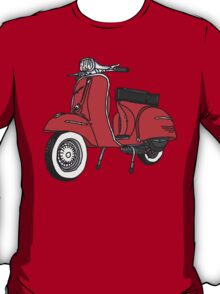 Vespa Illustration - Red T-Shirt