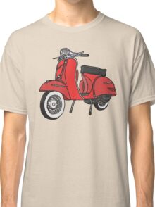 Vespa Illustration - Red Classic T-Shirt