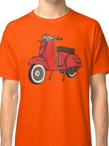 Vespa Illustration - Red Classic T-Shirt