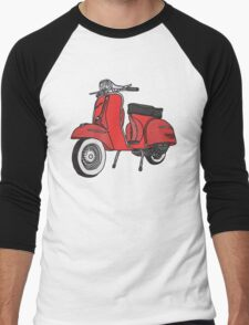 Vespa Illustration - Red Men's Baseball ¾ T-Shirt