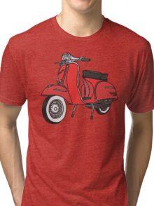 Vespa Illustration - Red Tri-blend T-Shirt