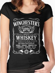 Supernatural - Winchester's Whiskey (White text) Women's Fitted Scoop T-Shirt