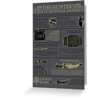 The Hunters Guide to Mystical Artifacts Greeting Card