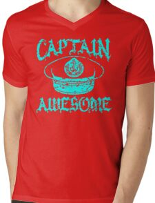 Captain Awesome Mens V-Neck T-Shirt
