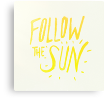 Follow the Sun Canvas Print