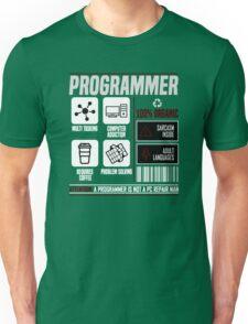 Programmer for dummies Unisex T-Shirt