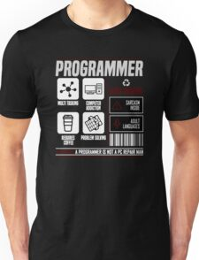 Programmer for dummies Unisex T-Shirt