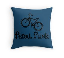 Pedal Punk  Throw Pillow