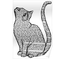 Tumblr Design  Newspaper Cat Poster