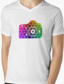 Camera Colors Mens V-Neck T-Shirt