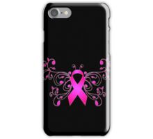 Breast Cancer Butterfly Ribbon iPhone Case/Skin