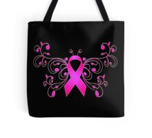 Breast Cancer Butterfly Ribbon Tote Bag